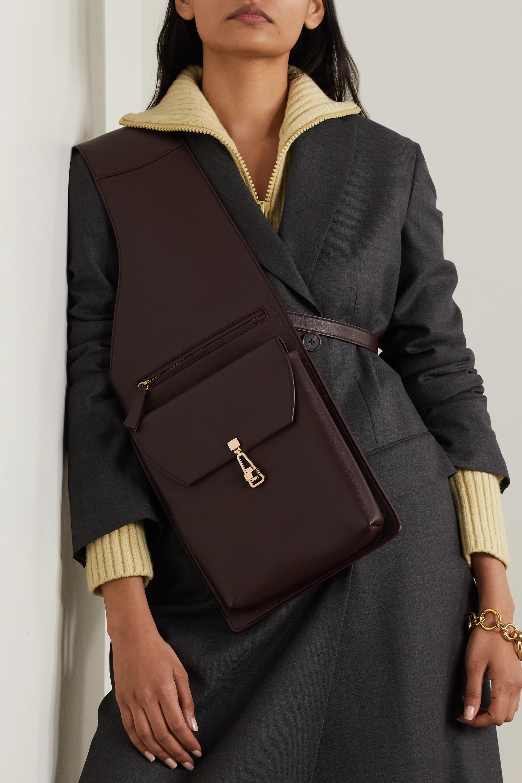 Gabriela Hearst + NET SUSTAIN Saddle leather shoulder bag