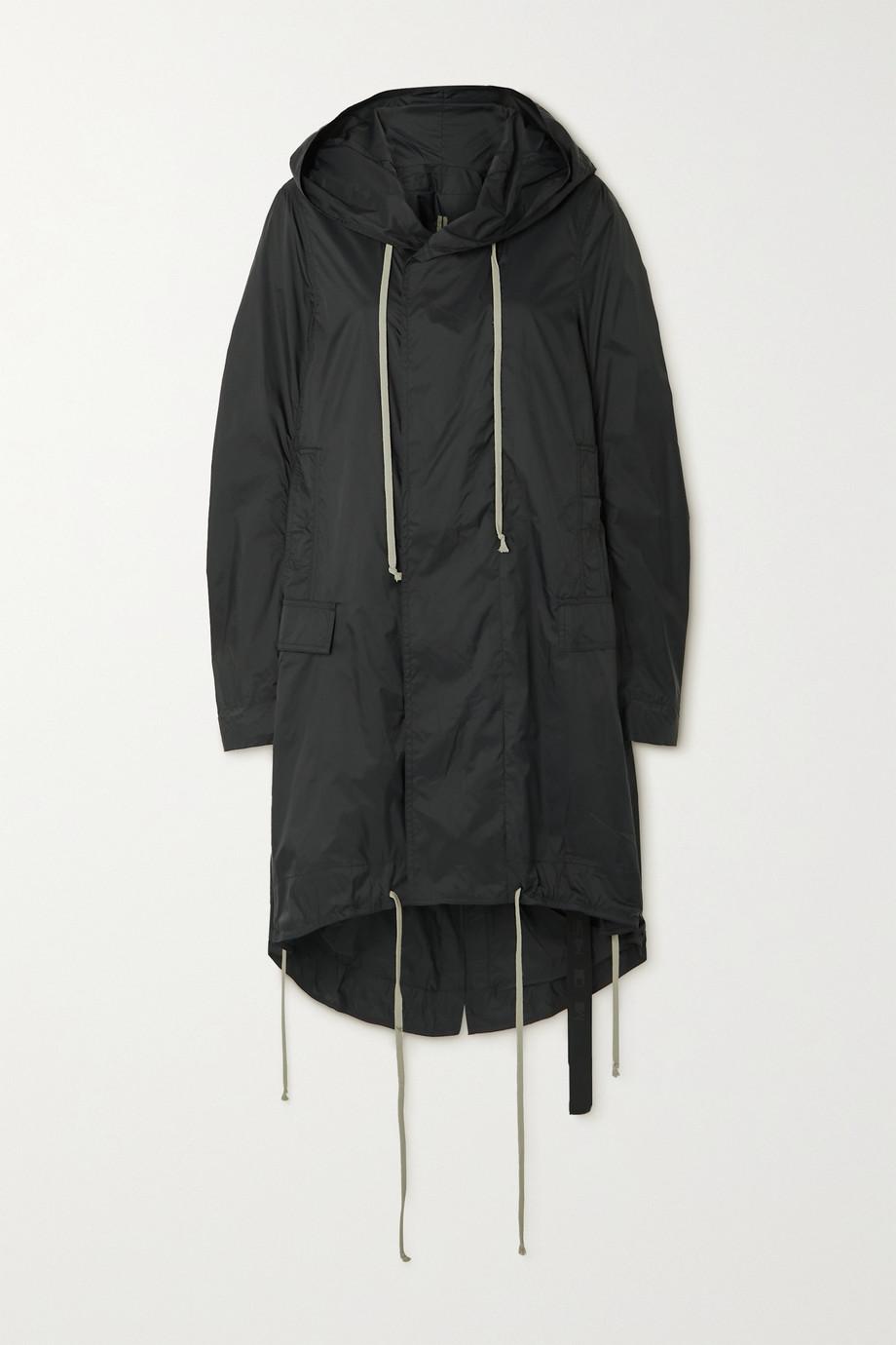 Rick Owens Asymmetric hooded shell jacket