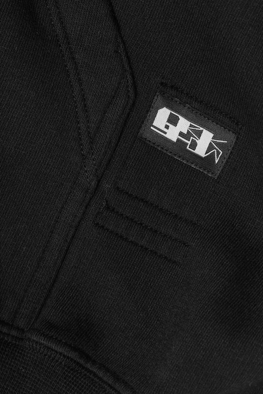 Rick Owens Felpa asymmetric cotton-jersey hoodie