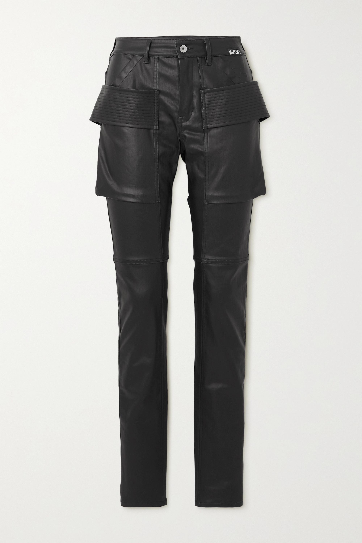 Rick Owens High-rise skinny coated-denim jeans