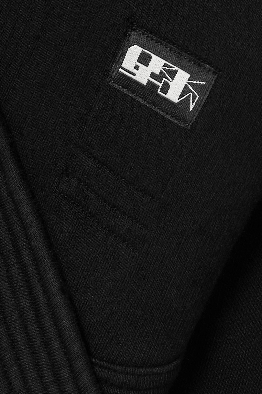 Rick Owens Felpa cutout appliquéd cotton-jersey sweatshirt