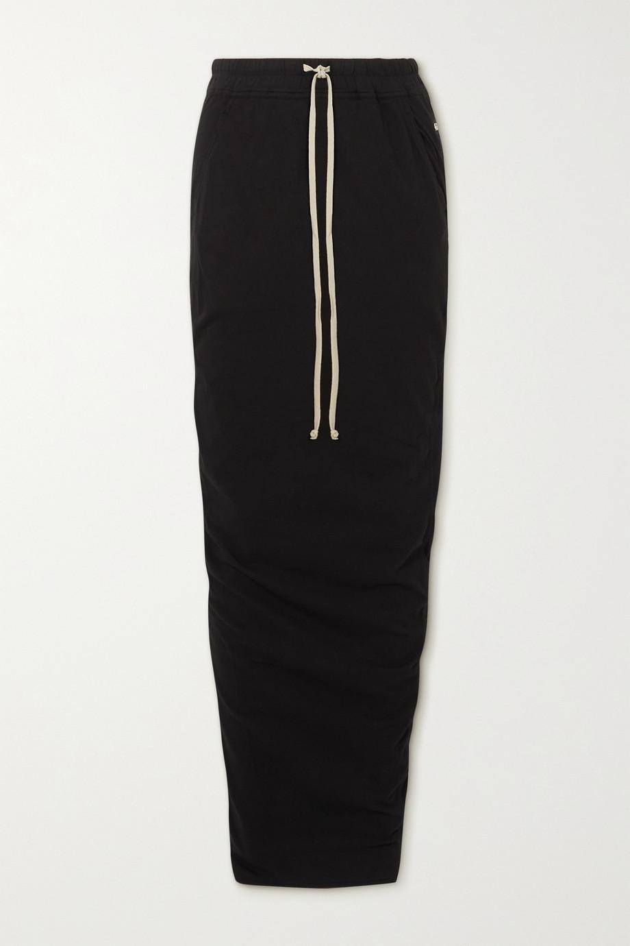 Rick Owens Gonna appliquéd cotton-jersey maxi skirt