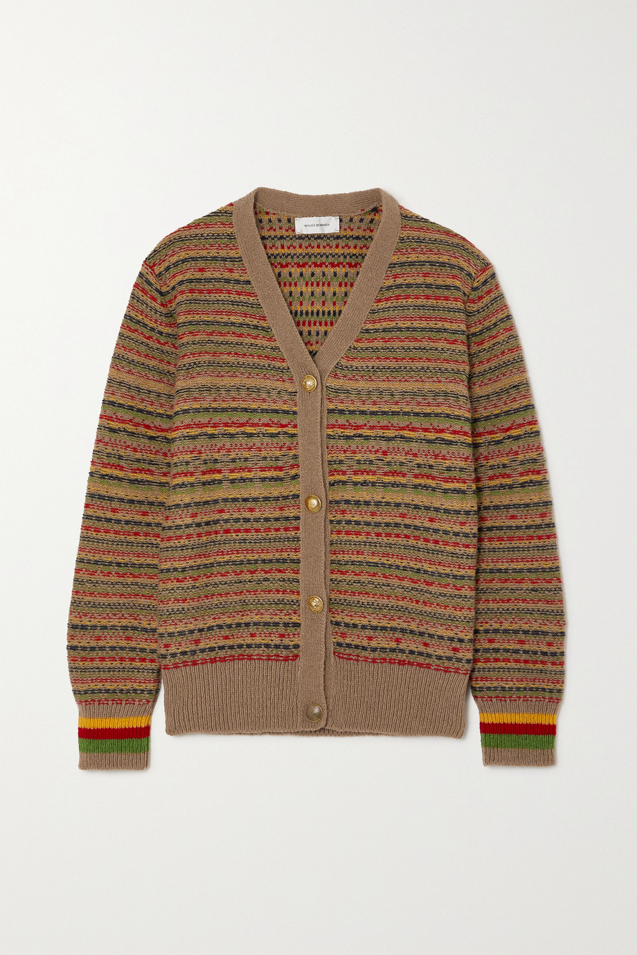 Wales Bonner Jamaica Fair Isle wool cardigan