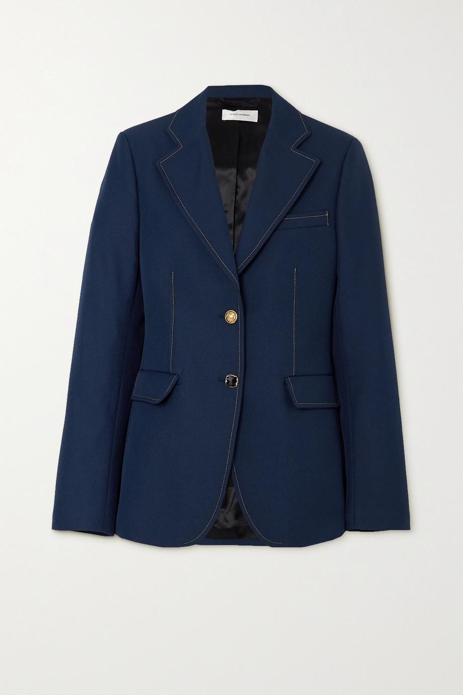 Wales Bonner Blues 明线细节斜纹布西装外套