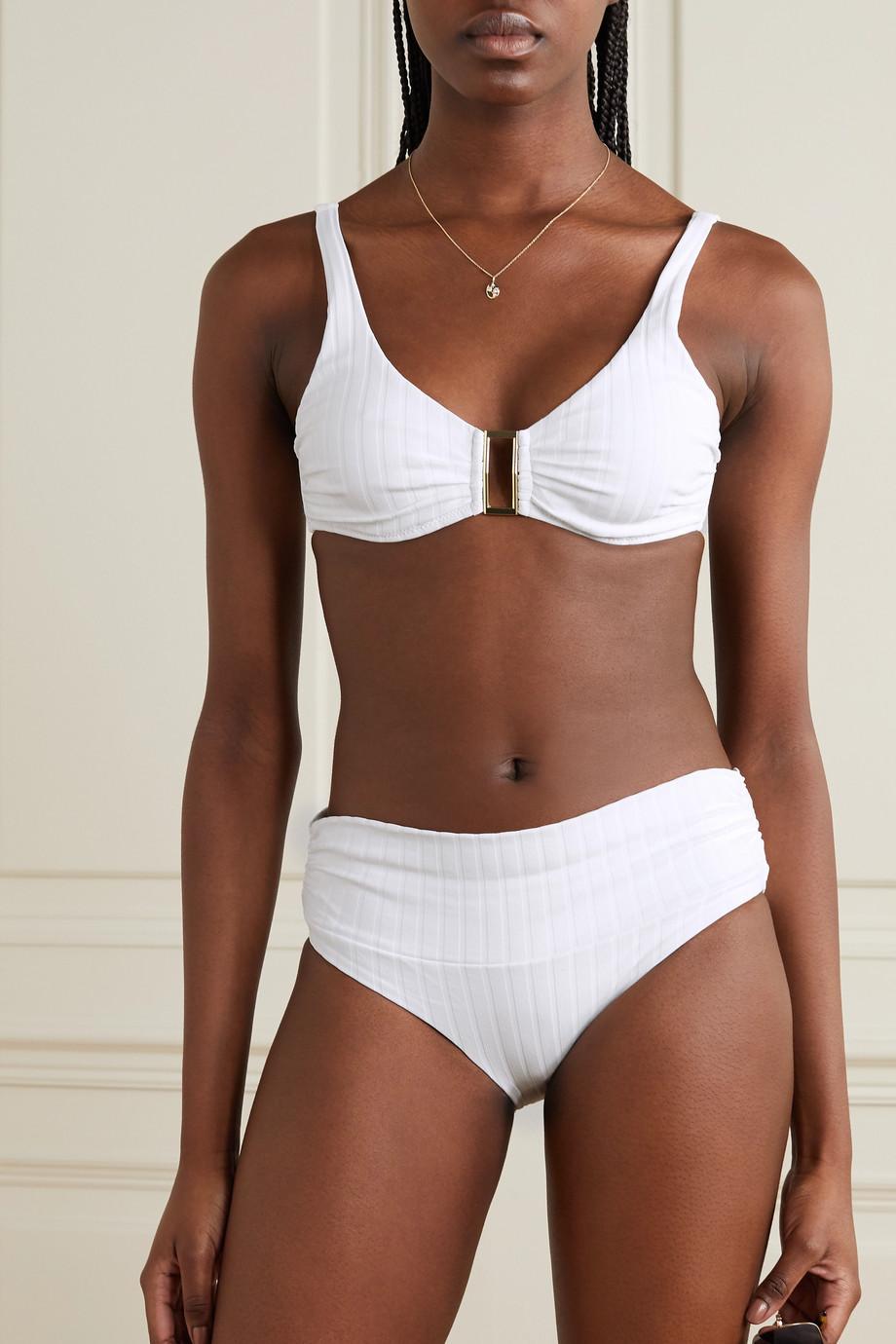 Melissa Odabash Bel Air embellished ribbed underwired bikini top