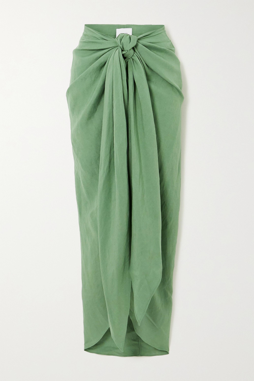 BONDI BORN + NET SUSTAIN x LG Electronics tie-front linen midi skirt