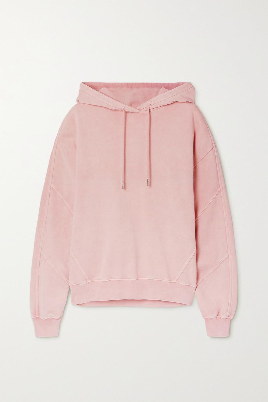 Ninety Percent + NET SUSTAIN paneled organic cotton-jersey hoodie
