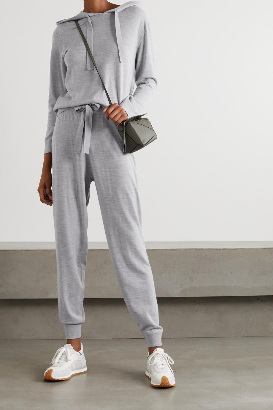 Ninety Percent + NET SUSTAIN organic merino wool-blend hoodie