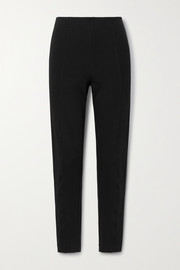 Ninety Percent + NET SUSTAIN paneled organic cotton-blend jersey slim-leg pants