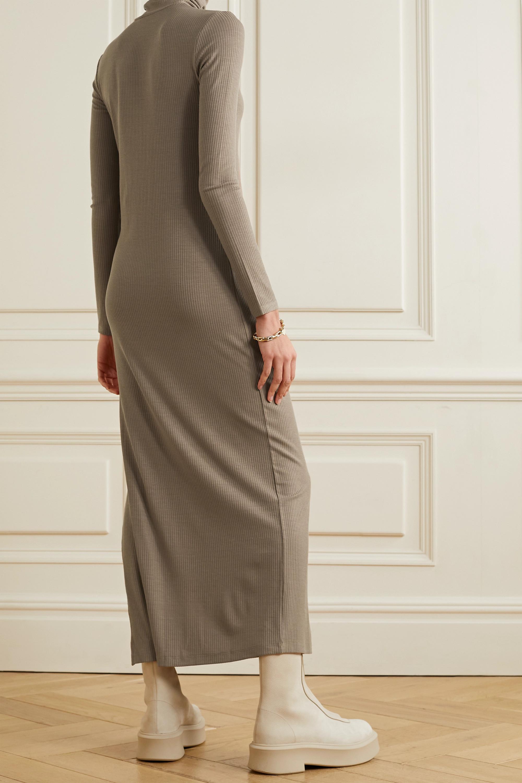 Ninety Percent + NET SUSTAIN Maxikleid aus geripptem Jersey aus Stretch-Tencel™ mit Rollkragen