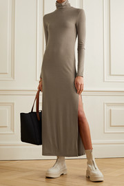 Ninety Percent + NET SUSTAIN ribbed stretch-TENCEL jersey turtleneck maxi dress