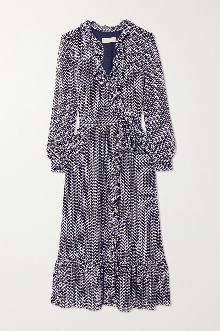 MICHAEL Michael Kors Ruffled floral-print georgette wrap dress