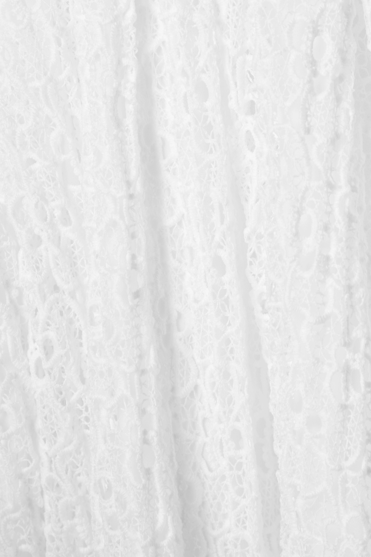 MICHAEL Michael Kors Maxikleid aus plissierter Spitze mit Kette