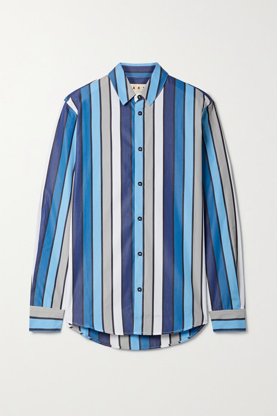 Marni Striped cotton-poplin shirt