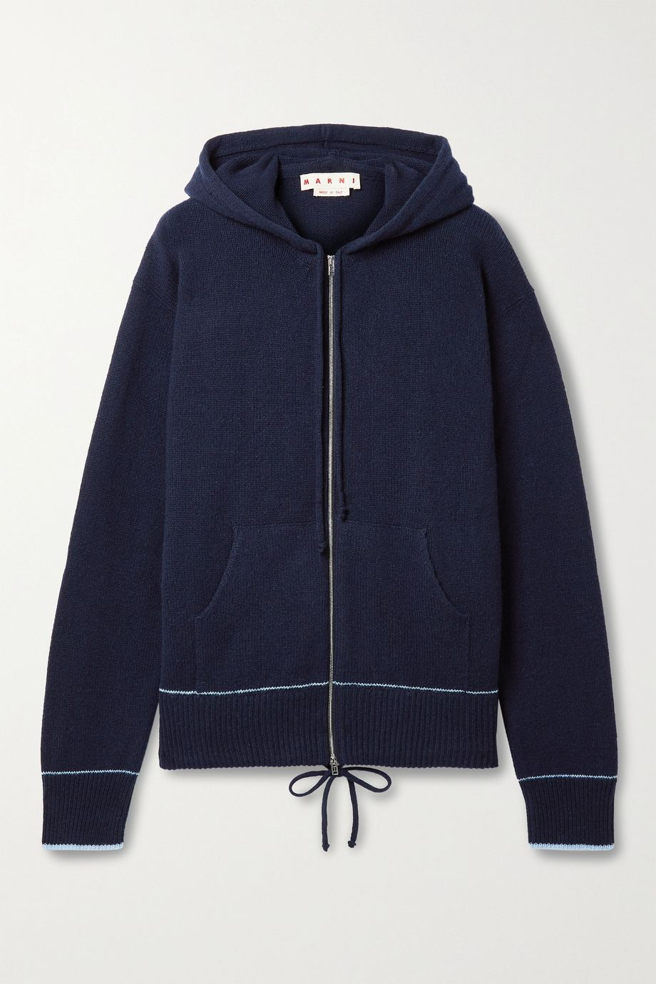 Marni Cashmere and wool-blend hoodie
