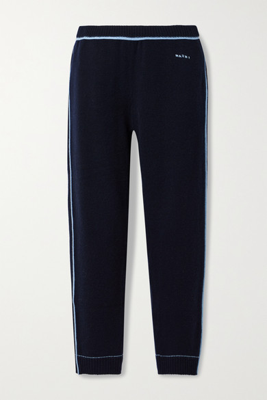 Marni Wools CASHMERE AND WOOL-BLEND TRACK PANTS