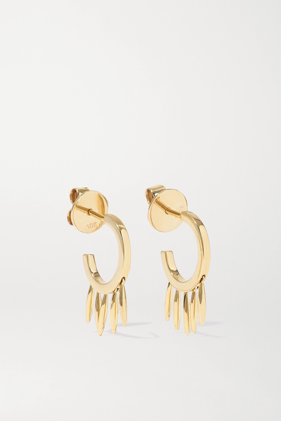 Ileana Makri Grass Clipping 18-karat gold hoop earrings