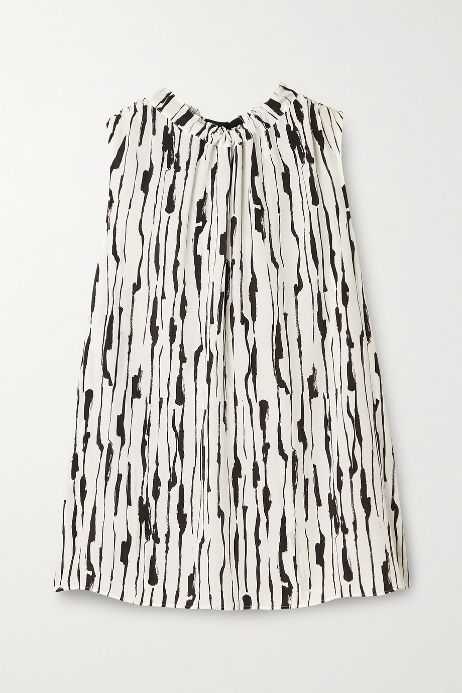Jason Wu Printed silk-crepe top