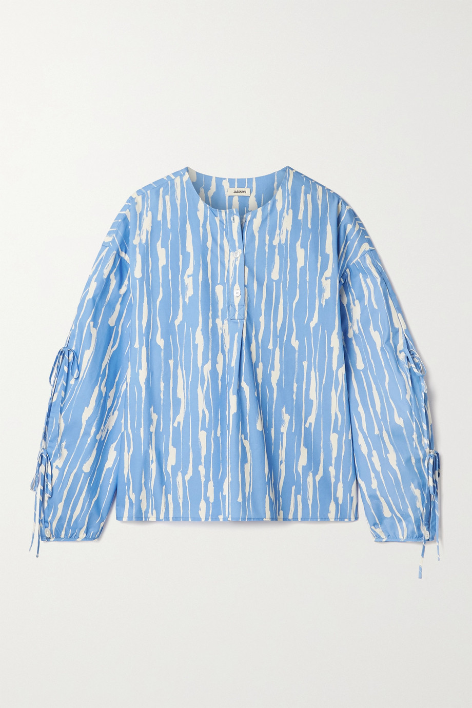 Jason Wu Printed cotton-poplin blouse
