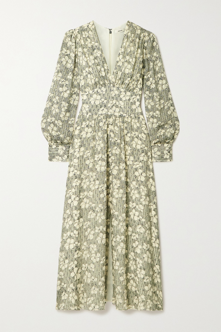 Jason Wu Floral-print fil coupé silk-blend chiffon maxi dress