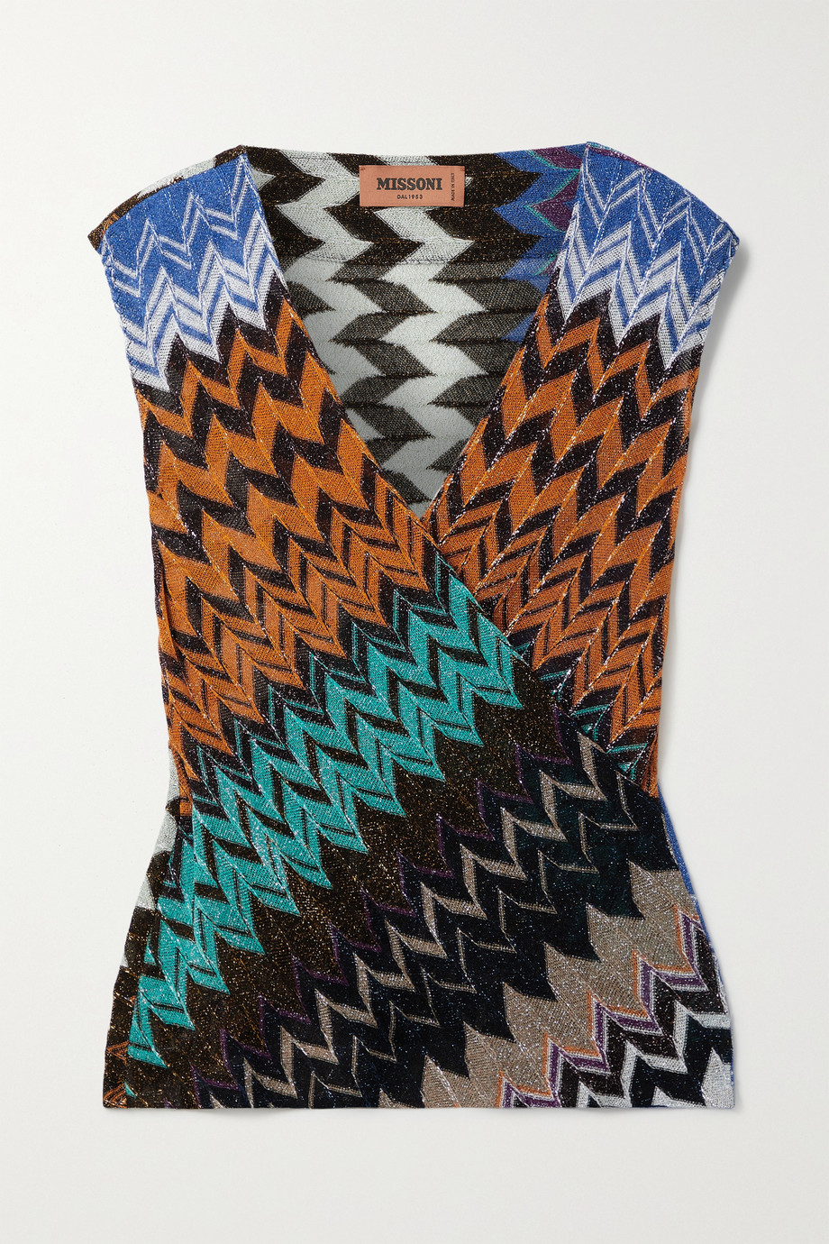 Missoni Wrap-effect stretch-Lurex top