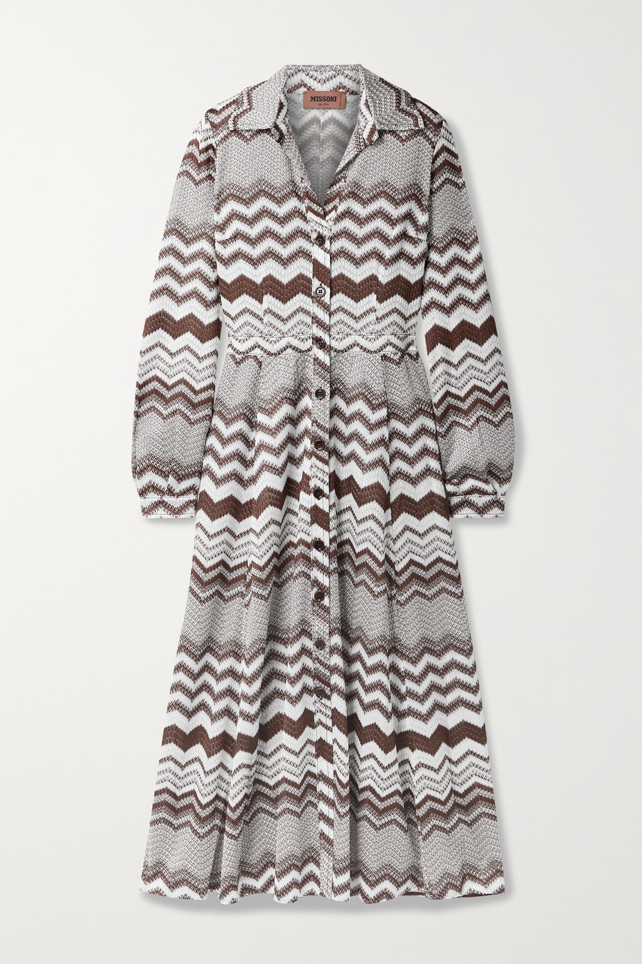 Missoni Crochet-knit shirt dress