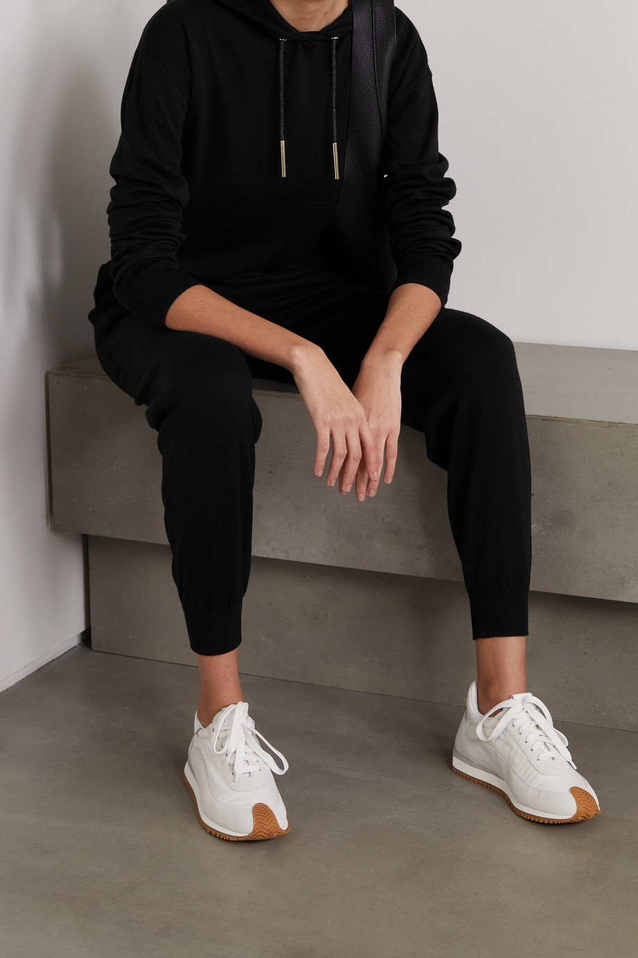 Olivia von Halle Gia Berlin cashmere and silk-blend hoodie and track pants set