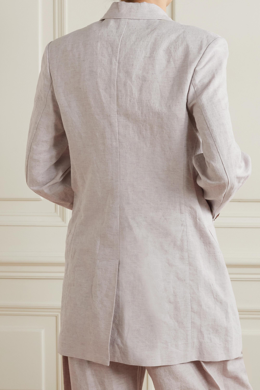 LOW CLASSIC Cotton and linen-blend blazer