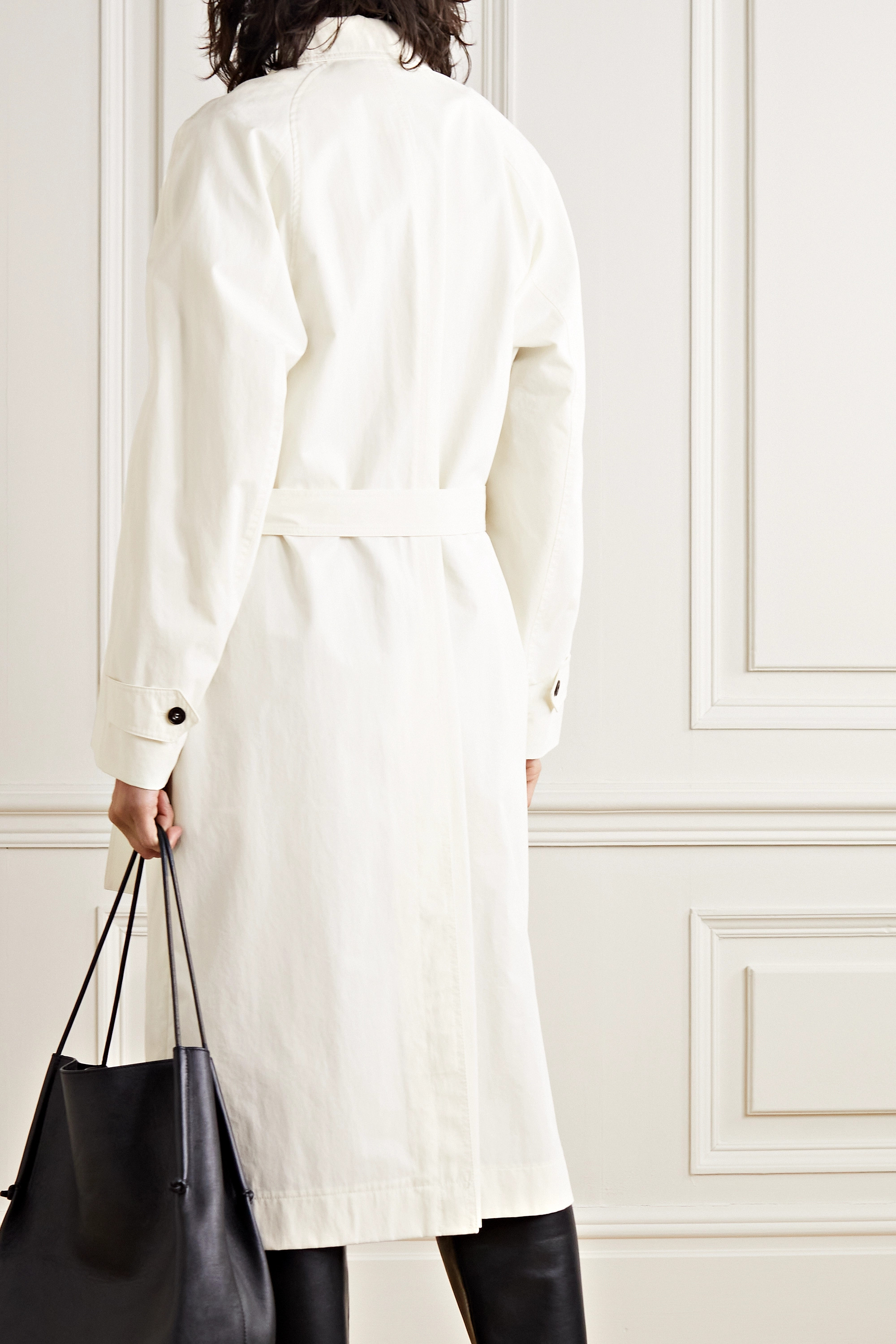 LOW CLASSIC Belted cotton-blend gabardine trench coat