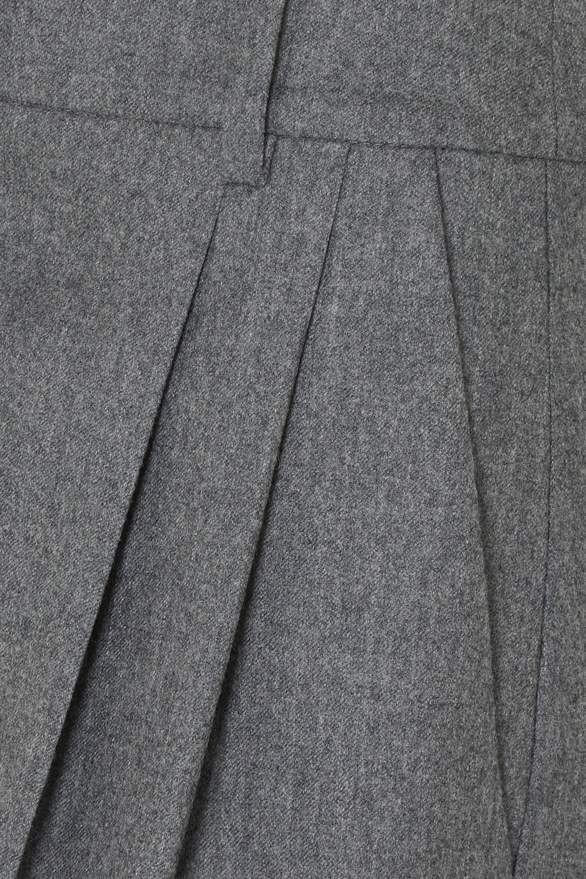 Stella McCartney Verkürzte Karottenhose aus Wolle mit Bundfalten