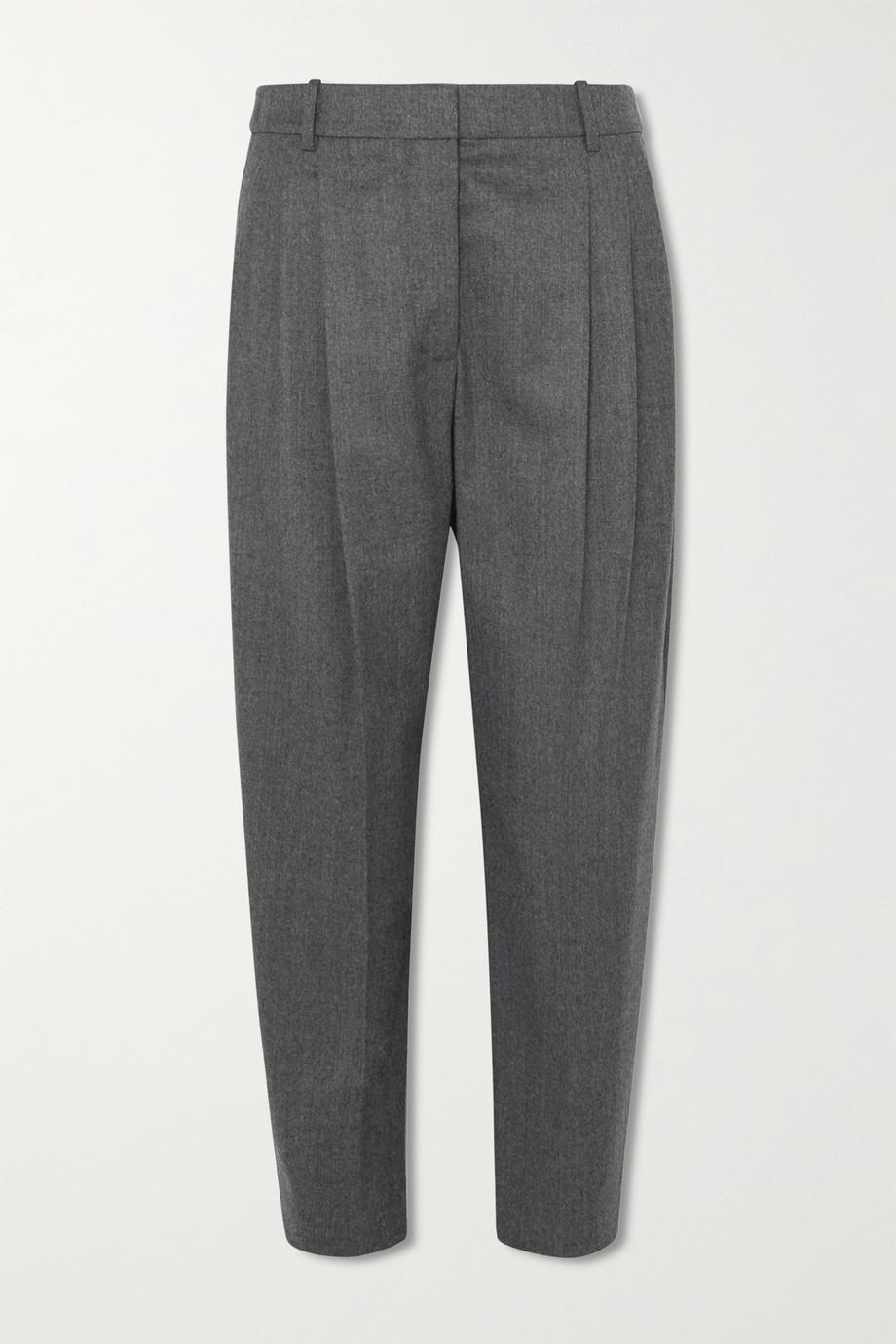 Stella McCartney Pantalon fuselé raccourci en laine à plis pressés