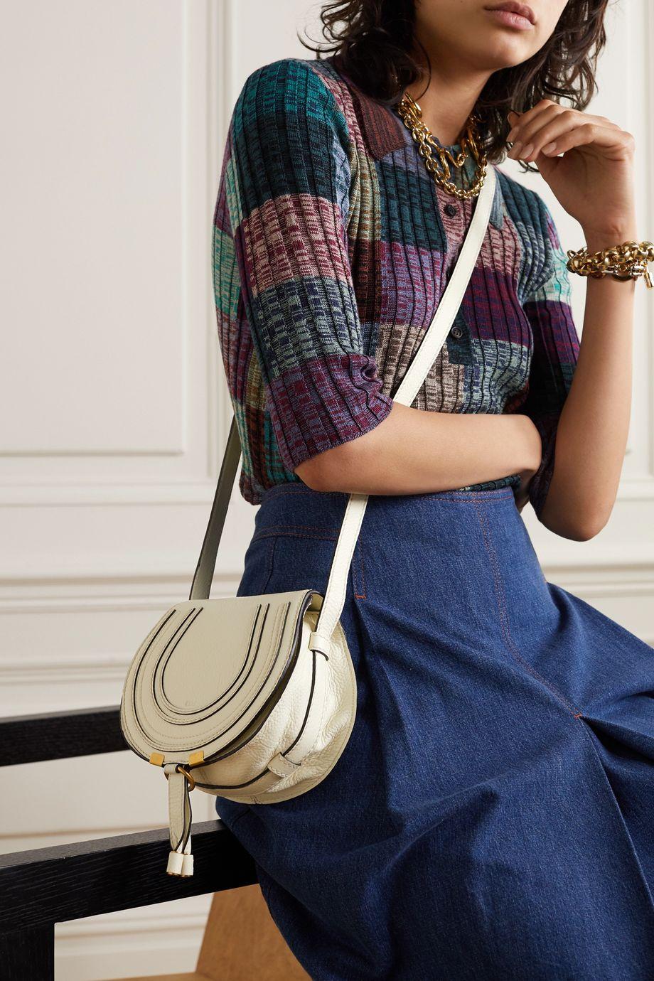 Chloé Marcie mini Schultertasche aus strukturiertem Leder