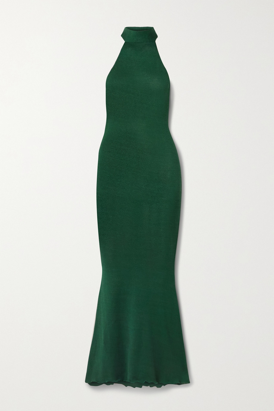 Savannah Morrow The Label +NET SUSTAIN Eir silk and organic cotton-blend turtleneck maxi dress