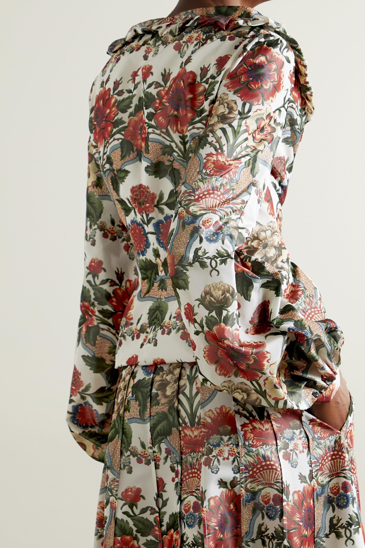 Brock Collection Sabrina ruffled floral-print taffeta jacket