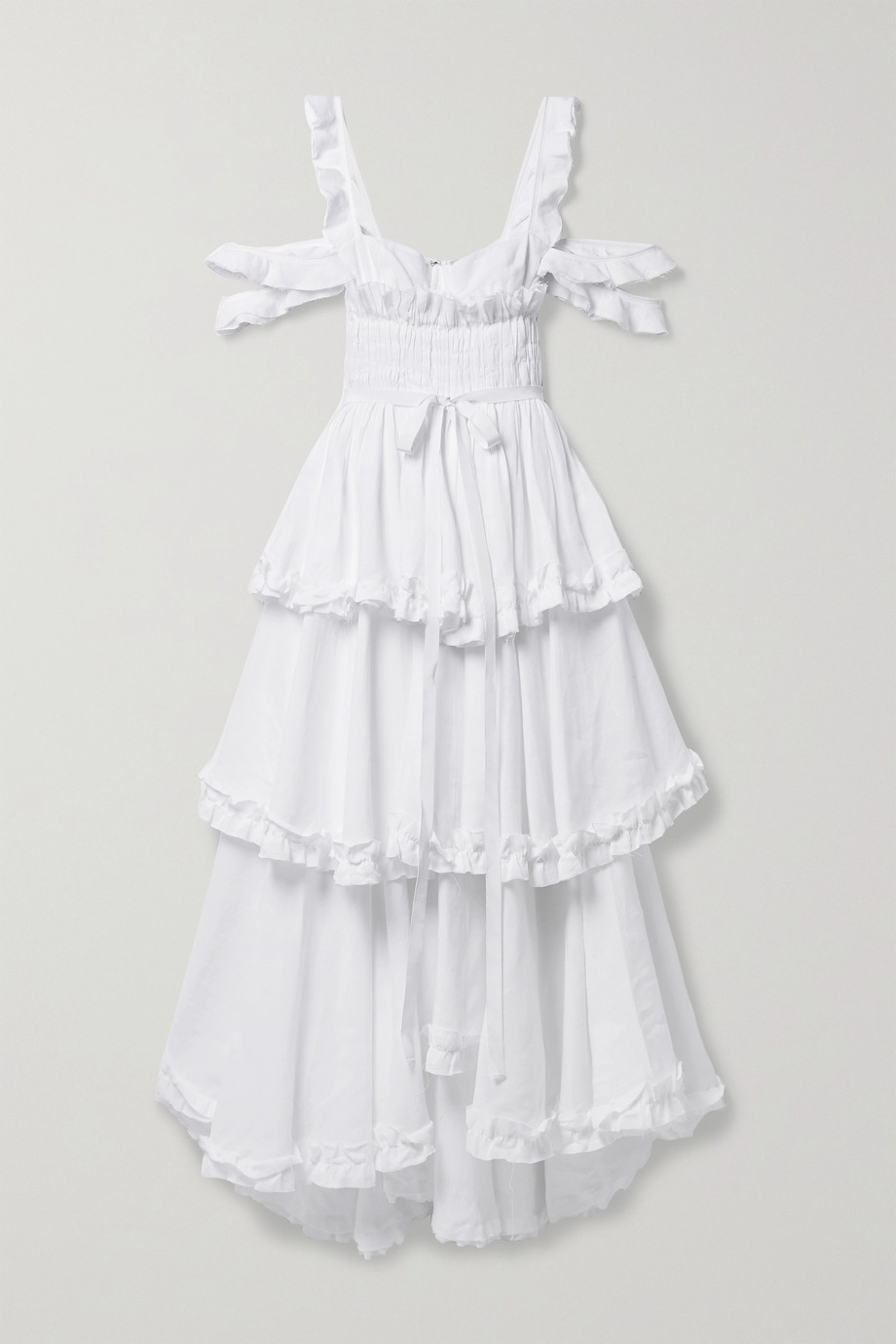 Brock Collection Samantha cold-shoulder tiered linen maxi dress