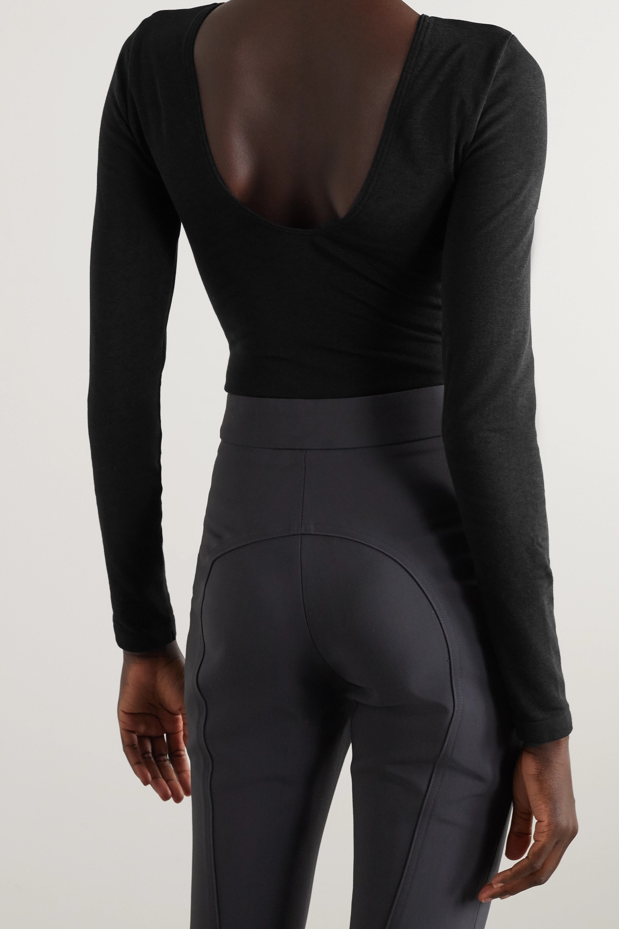 Wolford Memphis stretch-jersey thong bodysuit