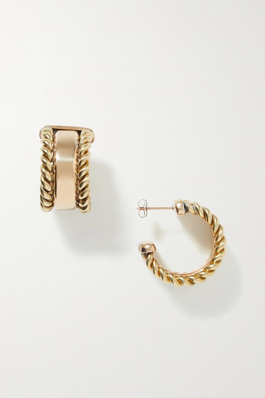 Laura Lombardi Doppia gold-plated hoop earrings