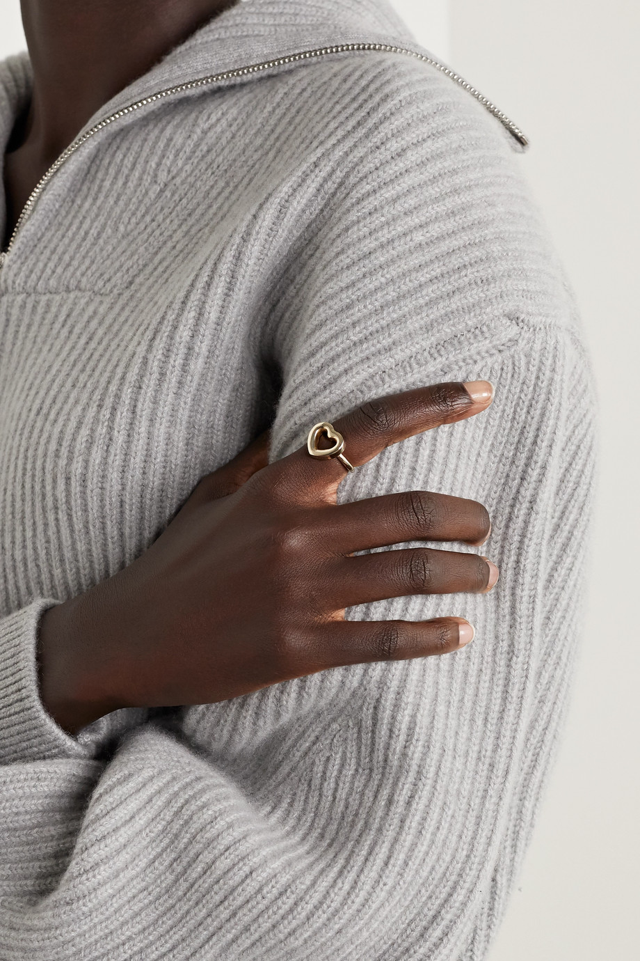 Laura Lombardi Cuore gold-tone ring