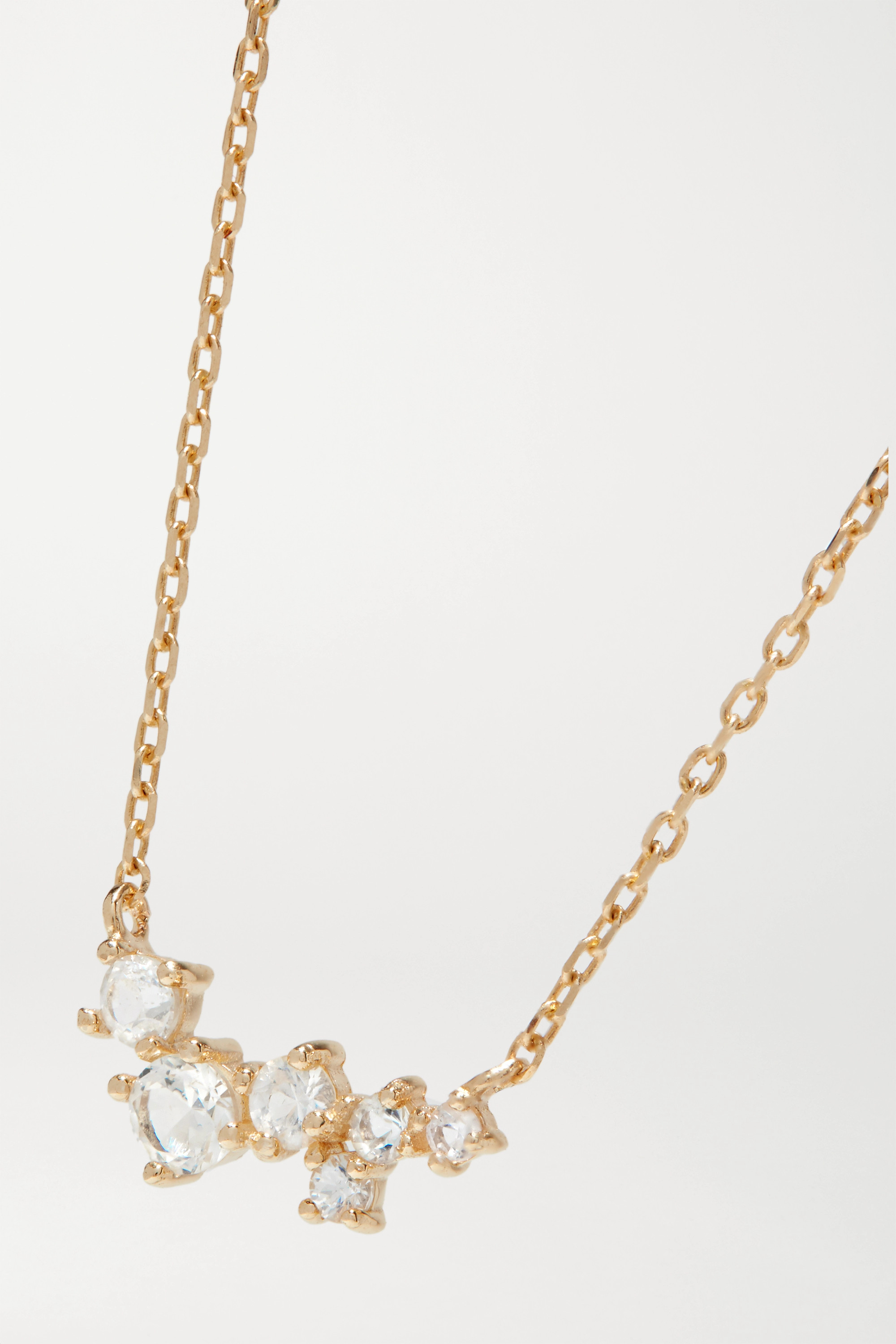 STONE AND STRAND 10-karat gold sapphire necklace