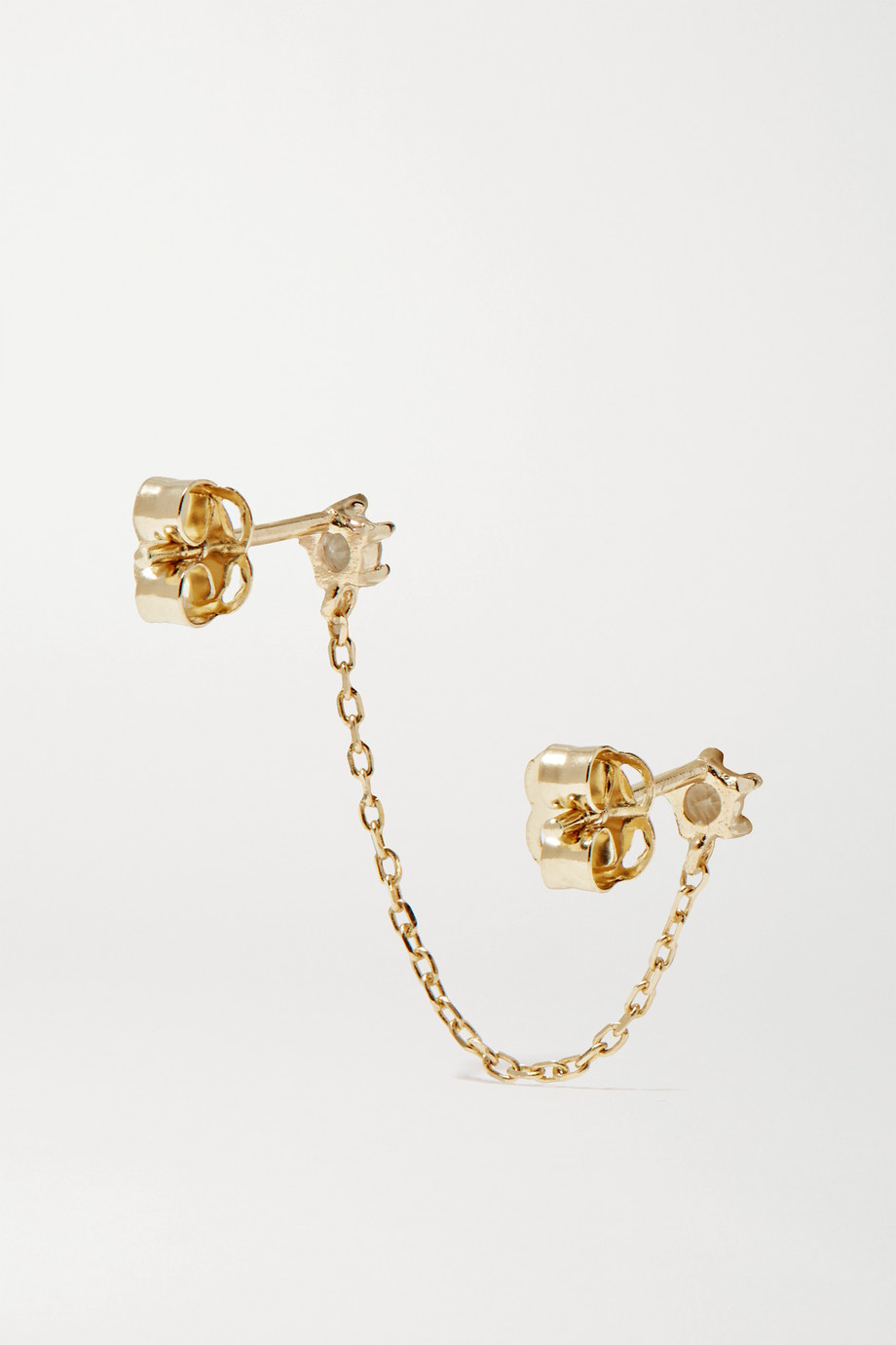 STONE AND STRAND Gold topaz earring