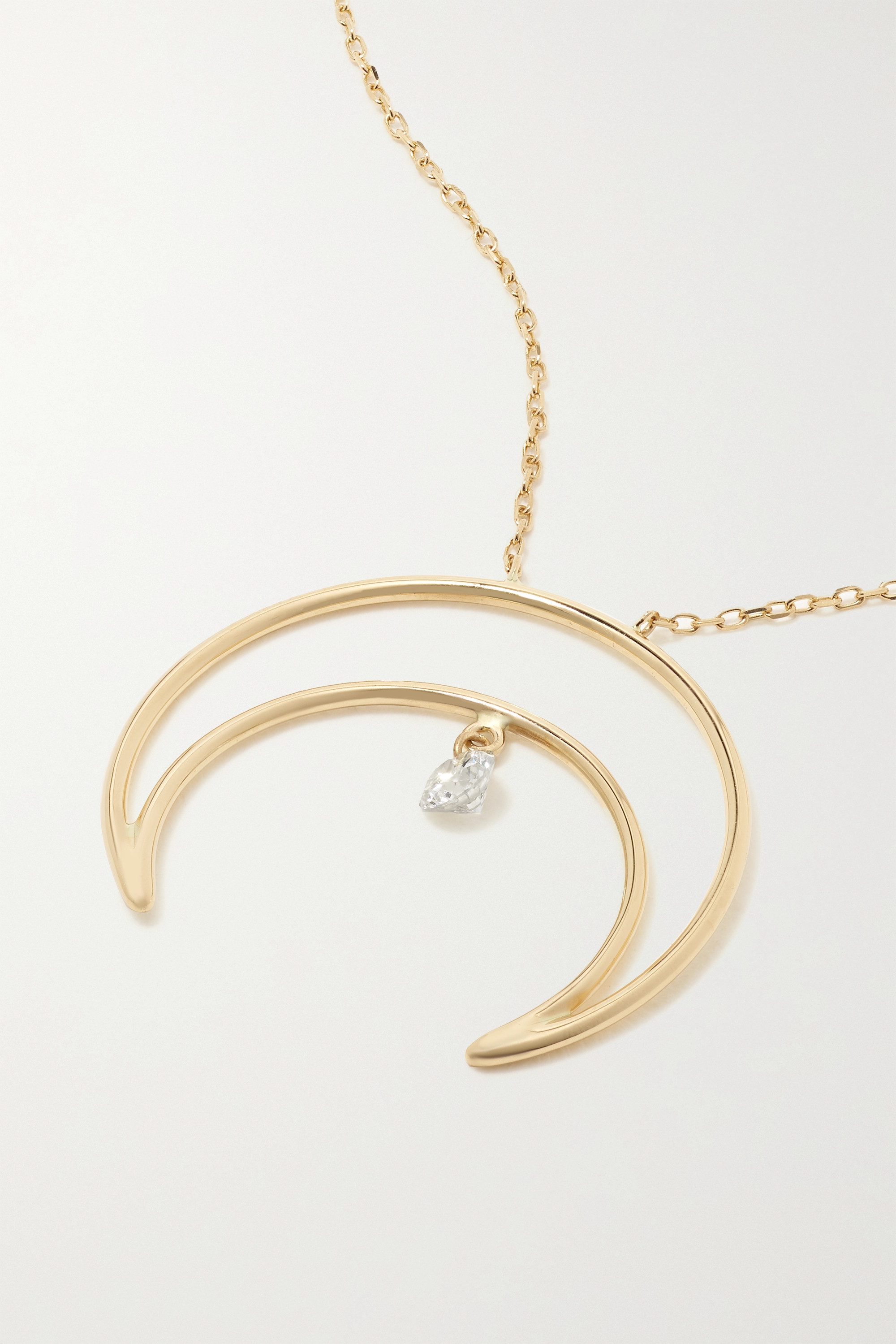 Persée Fly Me To The Moon 18-karat gold diamond necklace