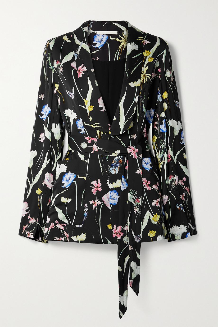 Jason Wu Collection Floral-print matte-satin blazer