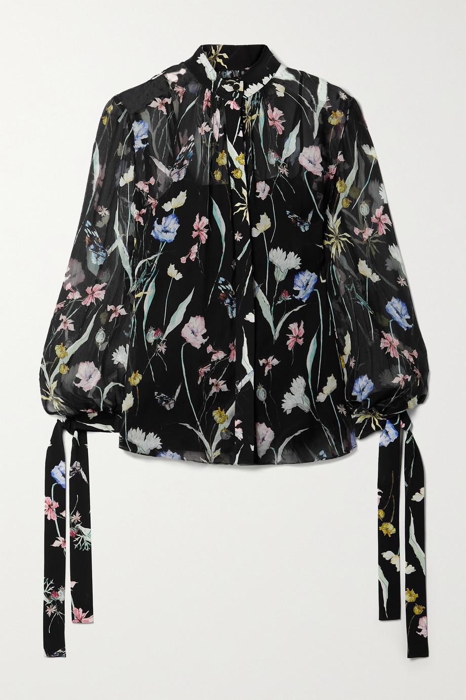 Jason Wu Collection Floral-print silk-crepon blouse