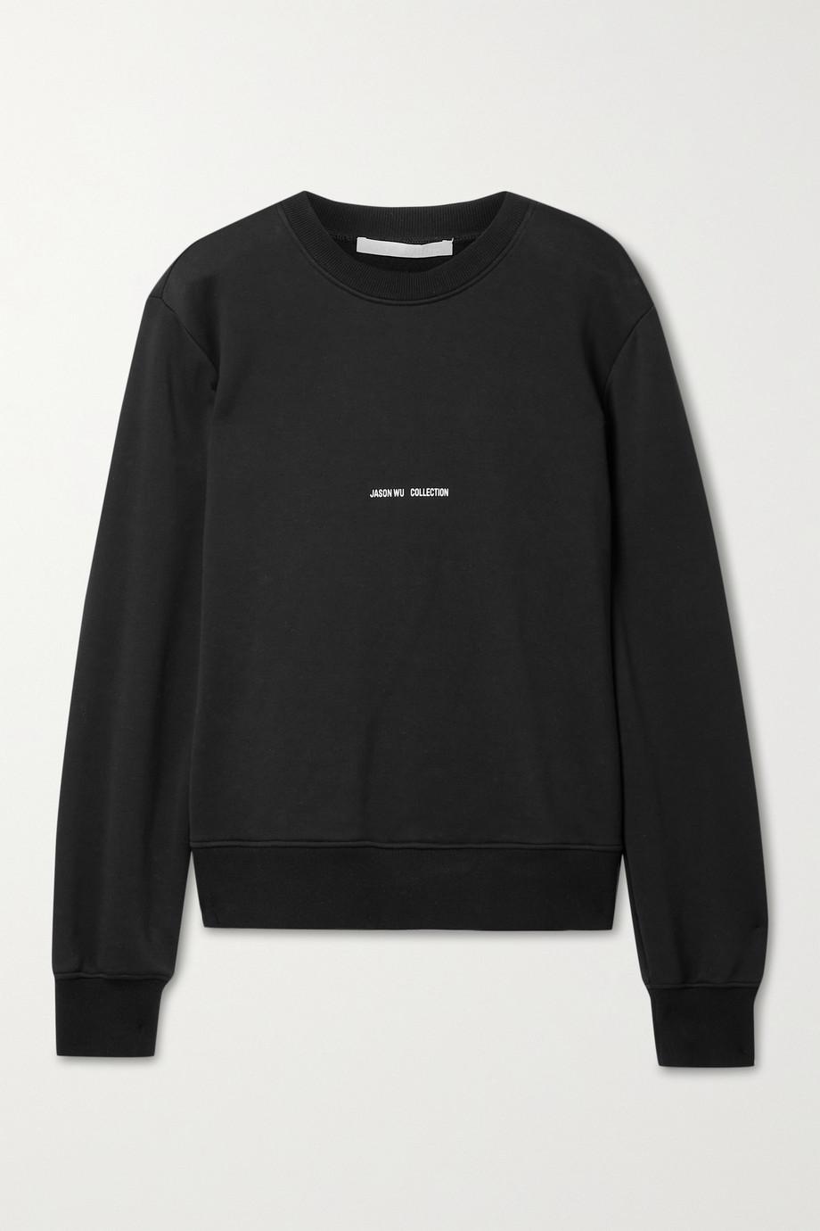 Jason Wu Collection Printed cotton-blend jersey sweatshirt
