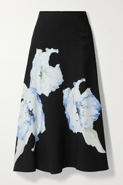 Jason Wu Collection Floral-print cady midi skirt
