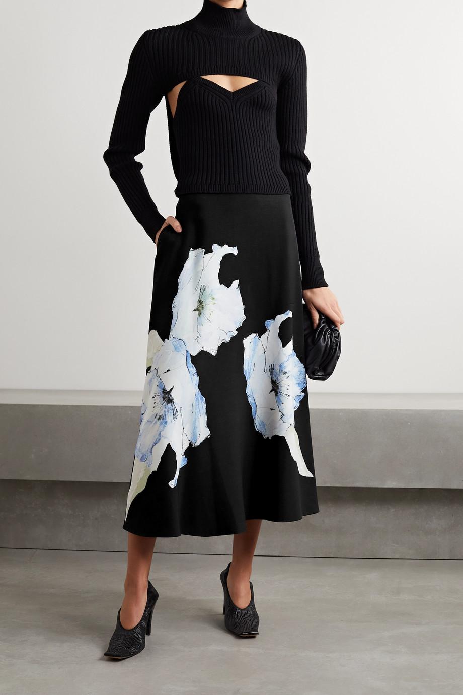 Jason Wu Collection Floral-print cady midi skirt