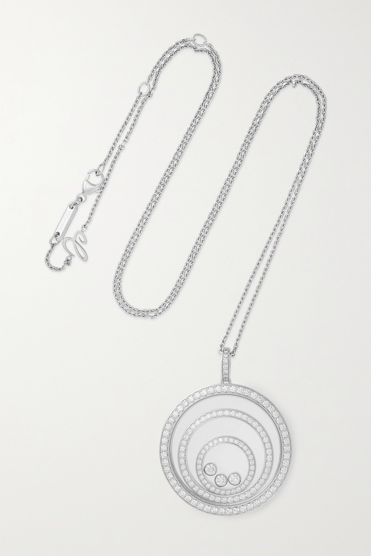 Chopard Happy Spirit 18-karat white gold diamond necklace