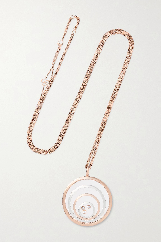 Chopard Happy Spirit 18-karat rose and white gold diamond necklace