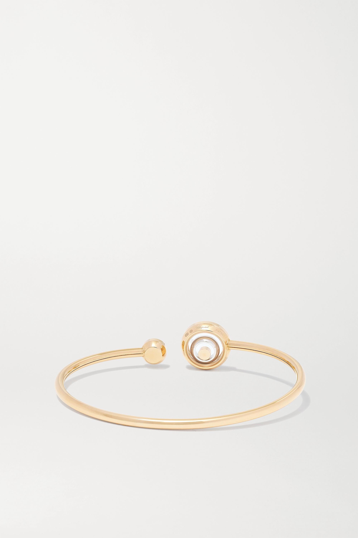 Chopard Happy Spirit 18-karat rose and white gold diamond cuff