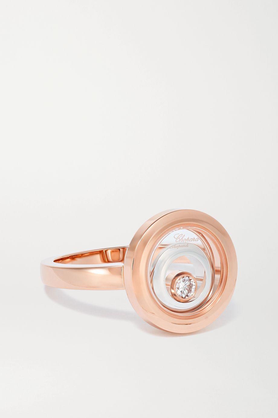 Chopard Happy Spirit Ring aus 18 Karat Rosé- und Weißgold mit Diamant